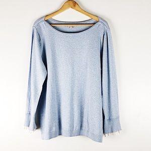 NWT Loft Baby Blue Frill Trim Sweater Sz 16/18